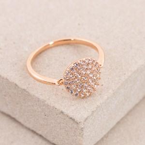 Linked Diamante Centre Fine Ring