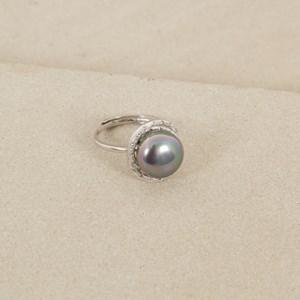 Pearl Centred Diamante Edge Ring