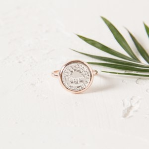 SZ 8 Coin Fine Band Ring