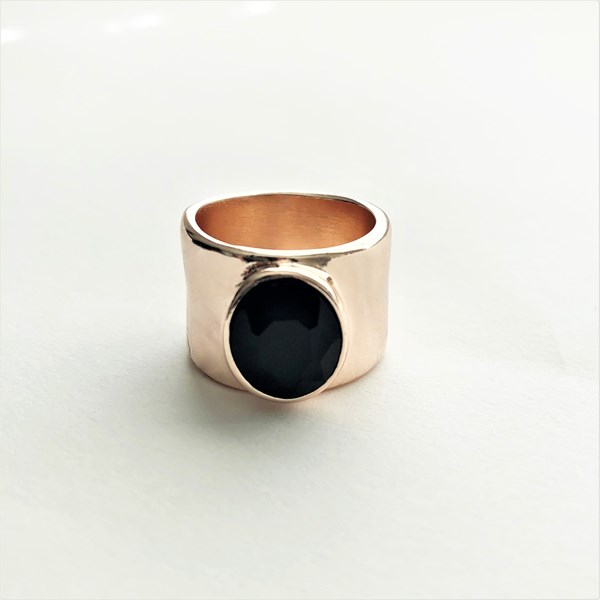 Facet Glass Band Ring