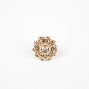 Jewel Centre Round Cocktail Ring