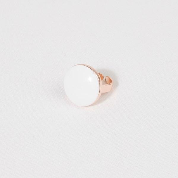 Polished Resin Metal Adjustable Ring