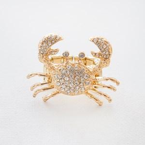 Diamante Crab Cocktail Ring