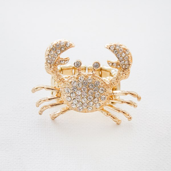 Diamante Crab Cocktail Ring
