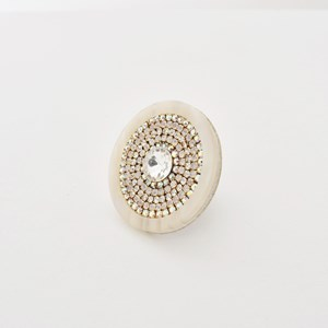 Diamante Centre Adjustable Ring
