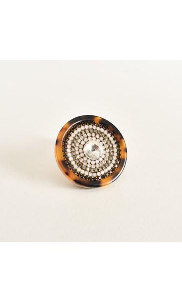 Diamante Centre Adjustable Ring
