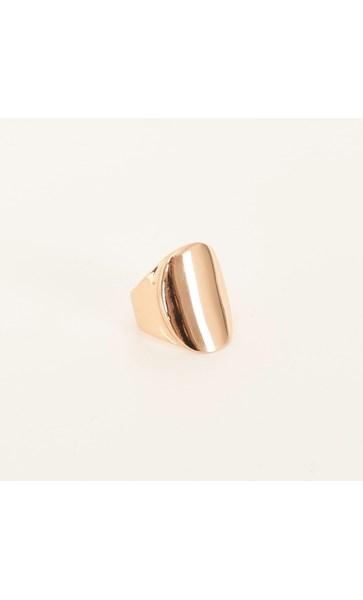 Metal Signet Ring Size 8