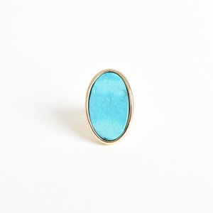 Adjustable Oval Stone Ring