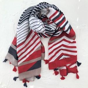 Frenchie Stripe Mix Scarf
