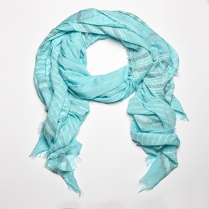 Cotton Stitched Lines Scarf