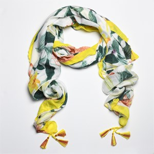 Lillies & Foliage Print Scarf