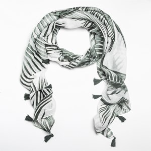 Palm Fronds Cotton Rayon Scarf