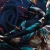 Birds of Paradise & Orchids Faux Silk Scarf - pr_55997