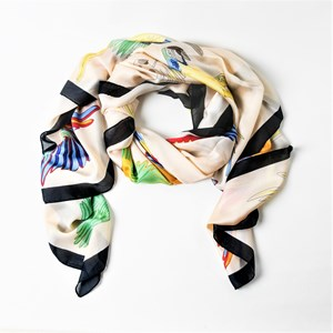 Birds of a Feather Faux Silk Scarf
