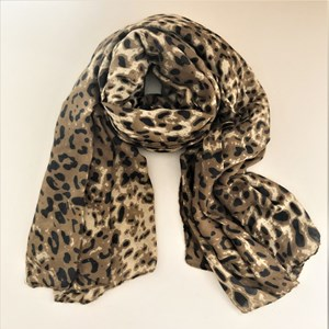 Shaded Leopard Rectangle Scarf