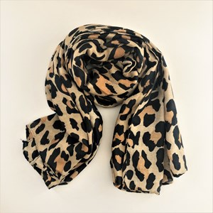 Big Leopard Print Rectangle Scarf