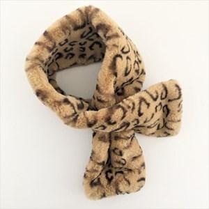 Plush Animal Print Faux Fur Neck Wrap