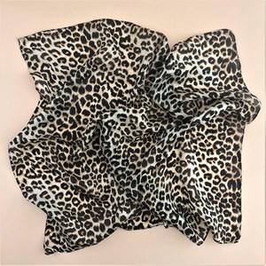Leopard Print Silk Square Scarf