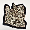 Bordered Leopard Print Faux Silk Square Scarf - pr_60883