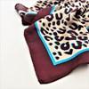 Bordered Leopard Print Faux Silk Square Scarf - pr_60885