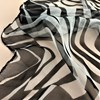 Contrast Zebra Print Silk Square Scarf - pr_61107