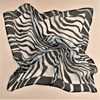 Contrast Zebra Print Silk Square Scarf - pr_61108