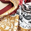 Roma Tile & Paisley Mix Faux Silk Square Scarf - pr_62946