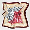 Roma Tile & Paisley Mix Faux Silk Square Scarf - pr_62947