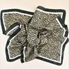 Cheetah Print Bordered Faux Silk Scarf - pr_63517