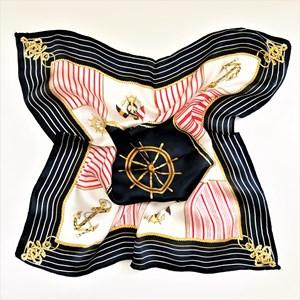Sail Away Print 100% Silk Scarf