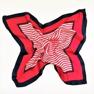 Stripe Panelled 100% Silk Scarf