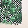 Tropical Leaves Geo Print Scarf - pr_62948