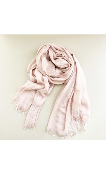 Lightweight Weave Raw Edge Scarf