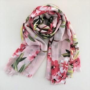 Floral & Foliage Print Lightweight Scarf
