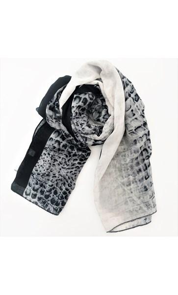 Croc Print Cotton Scarf