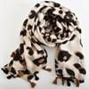 Tassel Edge Leopard Print Scarf - pr_67801
