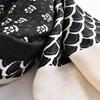 Bordered Print Blocks Tassel Corner Scarf - pr_66716