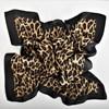 Bordered Leopard Faux Silk Square Scarf - pr_67951