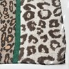Contrast Leopard Print Band Cotton Scarf - pr_67678