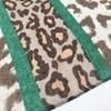 Contrast Leopard Print Band Cotton Scarf - pr_67783