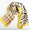 Leopard & Tartan Contrast Rectangle Scarf - pr_68307