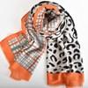 Leopard & Tartan Contrast Rectangle Scarf - pr_68311
