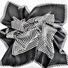 Faux Silk Stripe Bordered Square Scarf - pr_68323