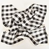 Faux Silk Gingham Print Bordered Square Scarf - pr_70110