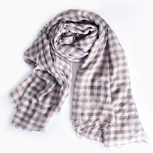 Two Tone Check Scarf