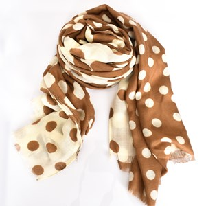 Abstract Spot Two Tone Scarf