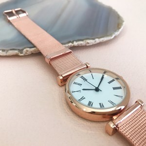 Narrow Mesh Band Watch