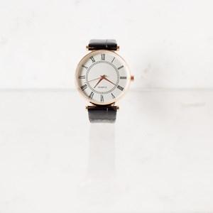 Grace Faux Croc Band Watch