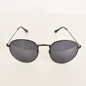 5003B Black Frame Round Sunglasses