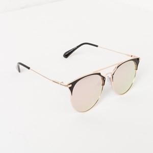 5056AR Pink Lens Half Frame Sunglasses